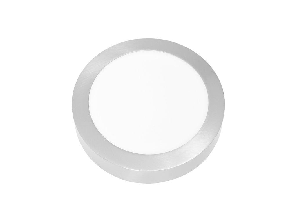LED panel 18 W, krytí IP20 - pro vnitřní prostředí, rozměry⌀ 225 mm, výška 30 mm, svítivost 1 550 lm, 4 100 K, barva světla neutrální bílá, kruhové svítidlo přisazené, materiál hliník/plast, barva rámu CHROM lesklý, včetně pružin a trafa
