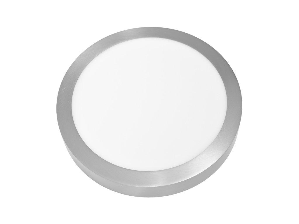LED panel 25 W, krytí IP20 - pro vnitřní prostředí, rozměry⌀ 300 mm, výška 30 mm, svítivost 2 260 lm, 4 100 K, barva světla neutrální bílá, kruhové svítidlo přisazené, materiál hliník/plast, barva rámu CHROM lesklý, včetně pružin a trafa