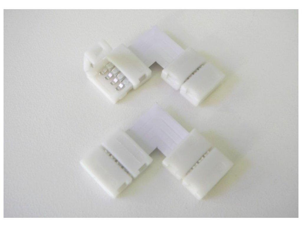 Rohová click spojka pro barevné RGB LED pásky snadné zapojení