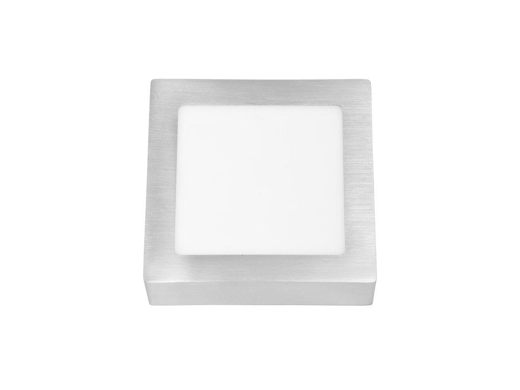 LED panel 12 W, krytí IP20 - pro vnitřní prostředí, rozměry17 x 17 x 3 cm, svítivost 880 lm, 4 100 K, barva světla neutrální bílá, čtvercové svítidlo přisazené, materiál hliník/plast, barva rámu CHROM lesklý, včetně pružin a trafa