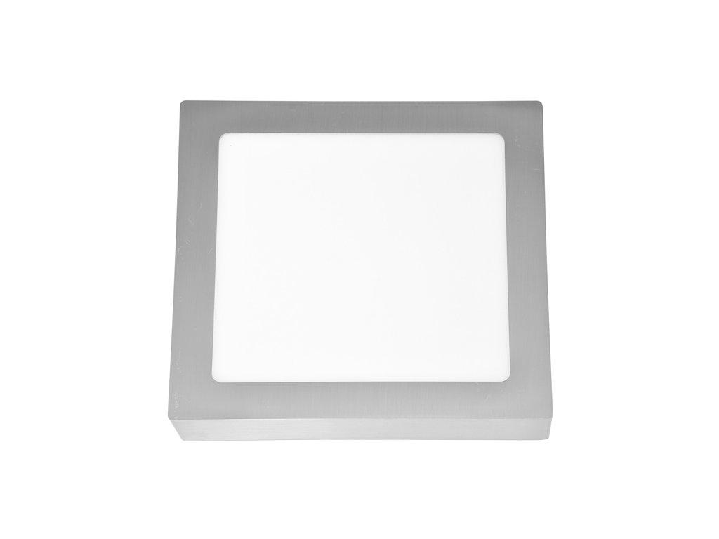 LED panel 18 W, krytí IP20 - pro vnitřní prostředí, rozměry22,5 x 22,5 x 3 cm, svítivost 1 550 lm, 4 100 K, barva světla neutrální bílá, čtvercové svítidlo přisazené, materiál hliník/plast, barva rámu CHROM lesklý, včetně pružin a trafa