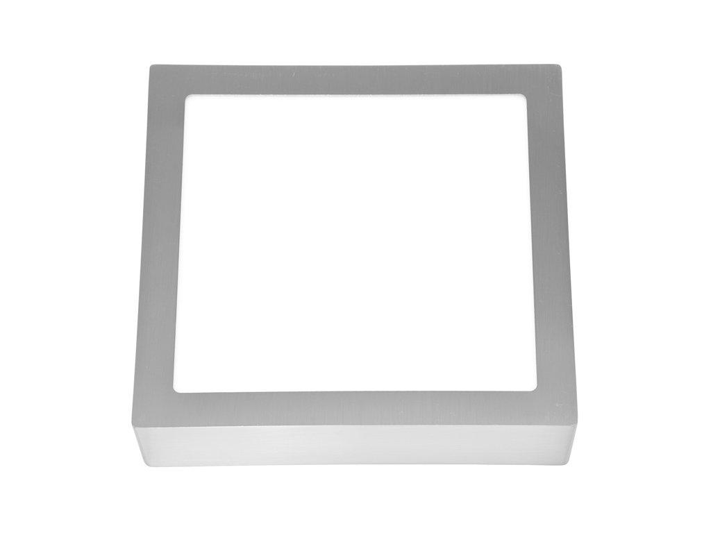 LED panel 25 W, krytí IP20 - pro vnitřní prostředí, rozměry 30 x 30 x 3 cm, svítivost 2260 lm, 4 100 K, barva světla neutrální bílá, čtvercové svítidlo přisazené, materiál hliník/plast, barva rámu CHROM lesklý, včetně pružin a trafa