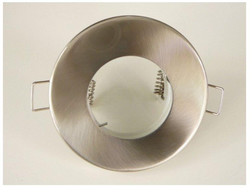 Kulatá bodovka podhledový rámeček IP44 vodotěsné svítidlo do koupelny matný chrom saténový nikl