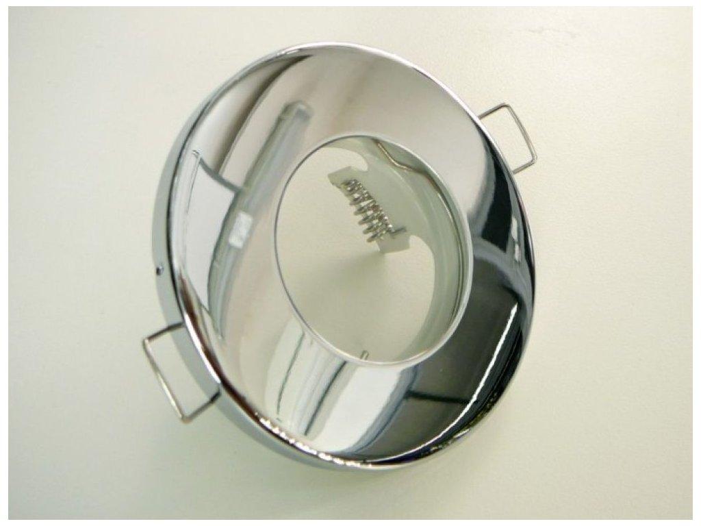 Kulatá bodovka podhledový rámeček IP44 vodotěsné svítidlo do koupelny lesklý chrom