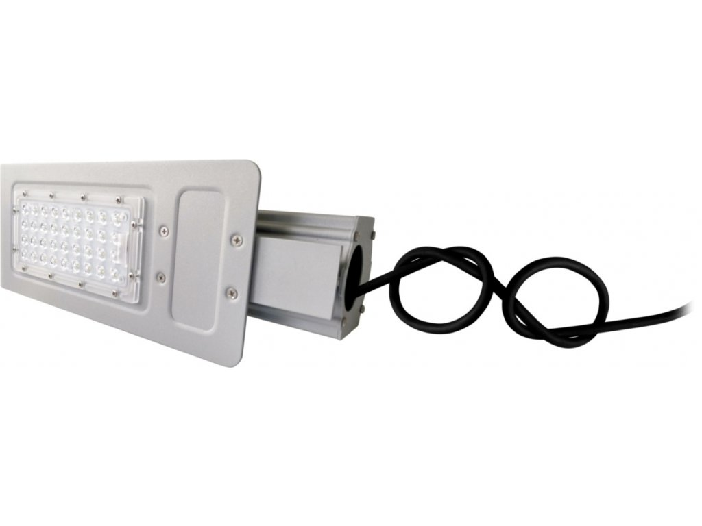 LED VO pouliční lampa BOSTON 60W neutrální/denní LED veřejné osvětlení stříbrné na výložník 60mm. TopLux Praha skladem