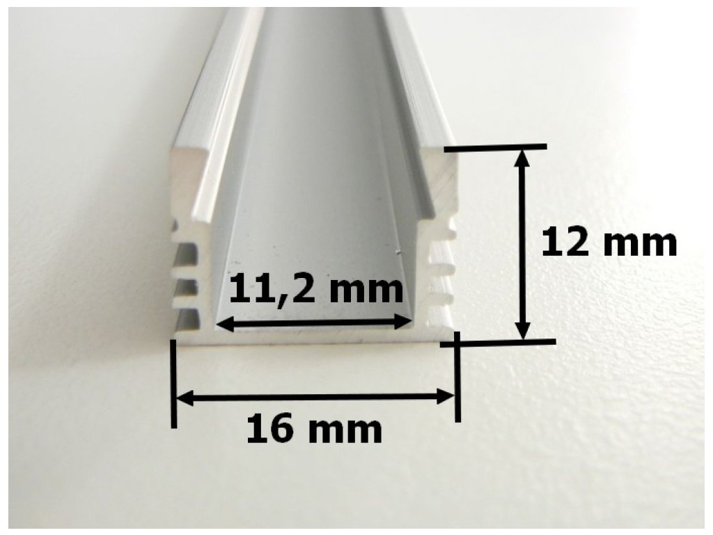 LED hliníkový peofil N7 vysoký a široký ALU chladící lišta pro LED pásek