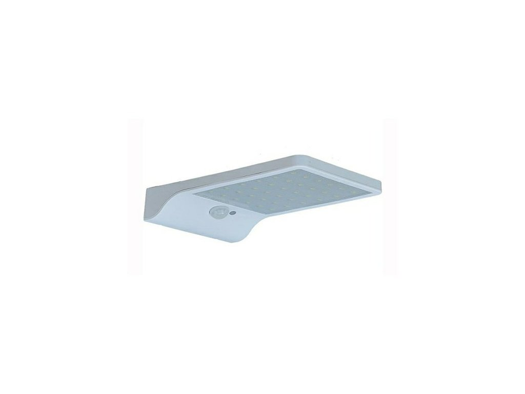 LED solární svítidlo bílé barvy na stěnu s čidlem designové fasádní bezdrátové světlo se senzorem pohybu