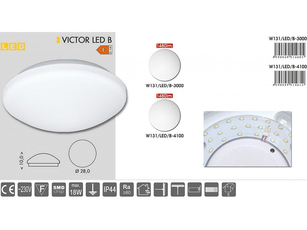LED svítidlo VICTOR 18W teplá bílá W131/LED/B-3000