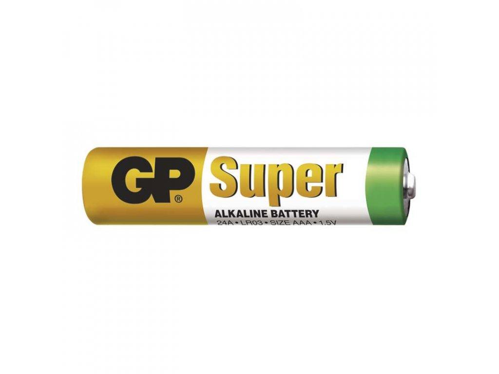 Mikrotužková baterie LR03 (AAA), rozměry10,5 × 44,5 mm, cena uvedena za kus, pro zařízení s malým dlouhodobým odběrem, napětí 1,5 V