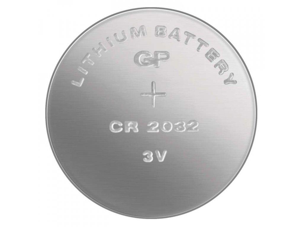Knoflíková lithiová baterie CR2032, rozměry 20,0 × 3,2 mm, cena uvedena za kus, pro citlivá zařízení, extrémně dlouhá skladovatelnost