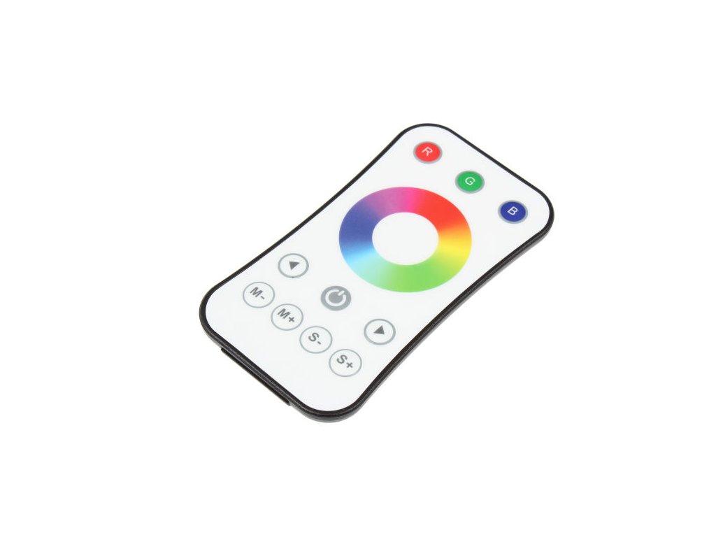 LED dálkový ovladač jednokanálový, RGB radiofrekvenční ovladač dimLED, nový design a funkce, rozměry 107 x 58,5 x 9 mm, dosah ovladače až 30 m