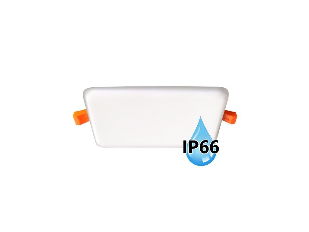 LED koupelnový panel Ecolite BRIX 6W bílý vestavný do podhledu LED-NS-6W/IP66. TopLux Praha skladem, ihned k odeslání