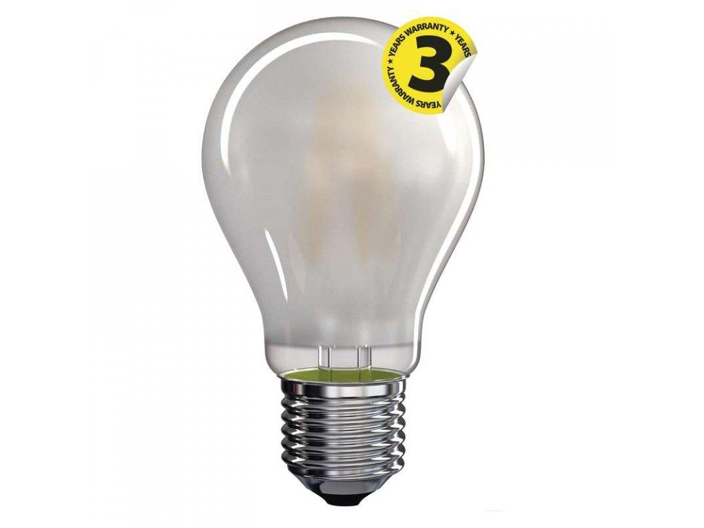 LED žárovka EMOS Filament matná E27 A60, náhrada za klasickou 75W žárovku