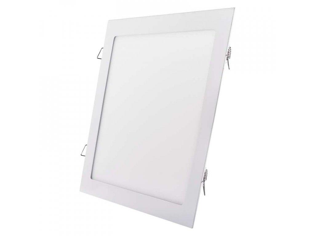 LED panel 24 W, krytí IP20 - pro vnitřní prostředí, rozměry297 × 297 × 21 mm, náhrada za žárovku 125 W, svítivost 2 000 lm, 4 000 K, barva světla neutrální bílá, čtvercové svítidlo vestavné