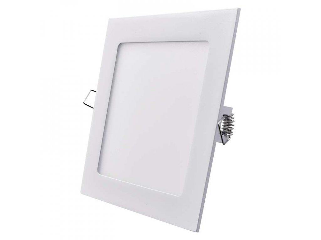 LED panel 12 W, krytí IP20 - pro vnitřní prostředí, rozměry170 × 170 × 21 mm, náhrada za žárovku 70 W, svítivost 1 000 lm, 3 000 K, barva světla teplá bílá, čtvercové svítidlo vestavné