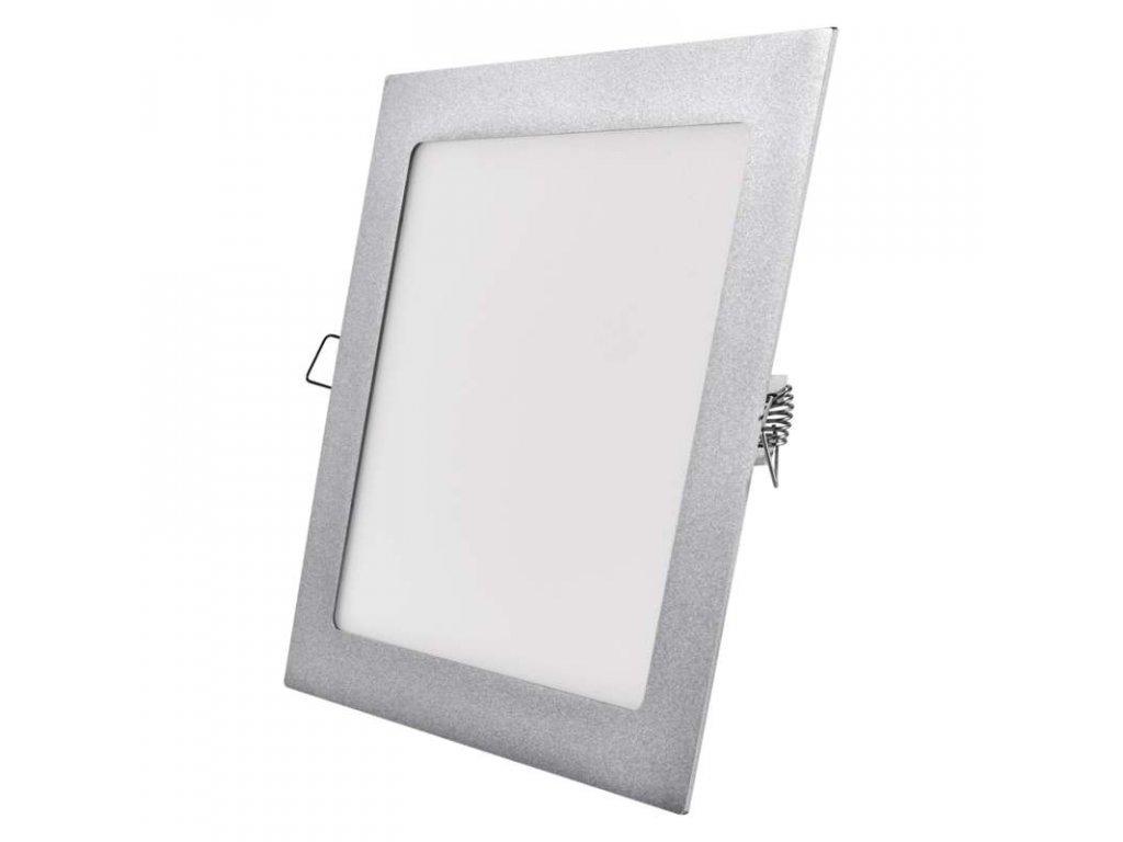 LED panel 18 W, krytí IP20 - pro vnitřní prostředí, rozměry 225 × 225 × 21 mm, náhrada za žárovku 100 W, svítivost 1 500 lm, 4 000 K, barva světla neutrální bílá, čtvercové svítidlo vestavné, elegantní stříbrné provedení