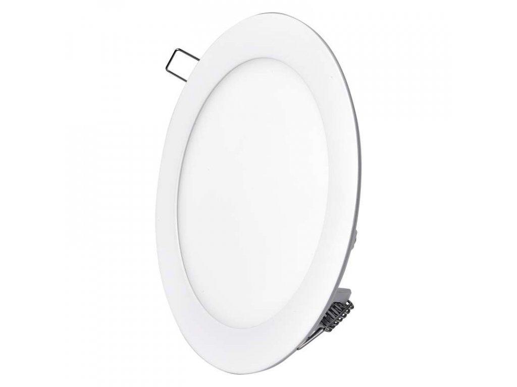 Bílý LED panel Emos VK 12W kruh vestavný teplá bílá ZD1131
