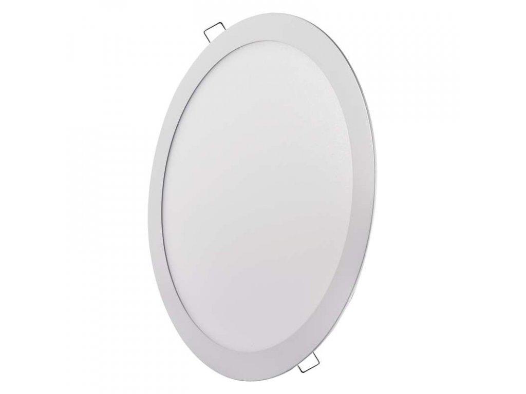 Bílý LED panel Emos VK 24W kruh vestavný neutrální bílá ZD1152