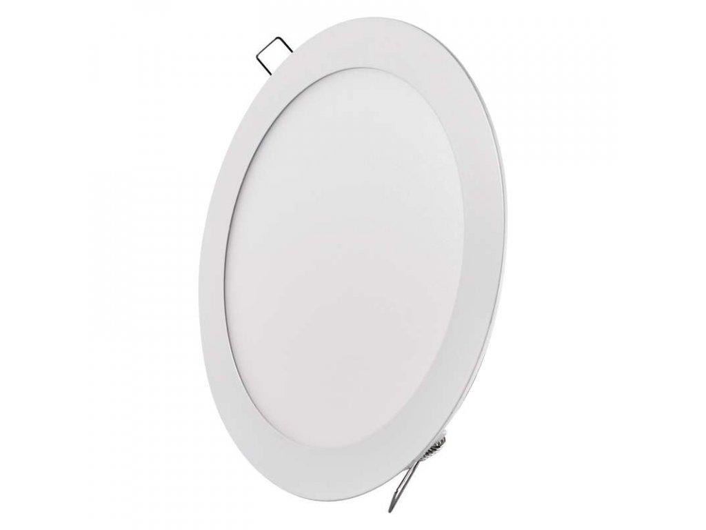 Bílý LED panel Emos VK 18W kruh vestavný teplá bílá ZD1141