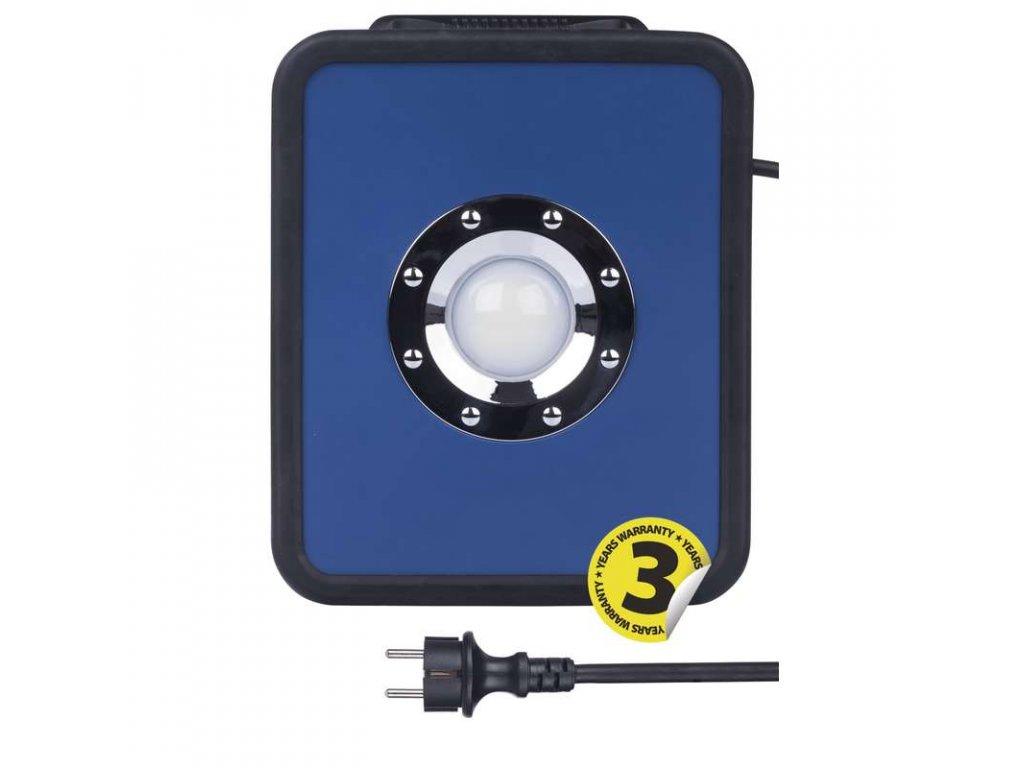 LED reflektor 36 W, krytí IP54 - vhodné i do exteriéru, rozměry320 × 258 × 83 mm, náhrada za žárovku 250 W, svítivost 2 400 lm, 4 000 K, barva světla neutrální bílá, bez PIR senzoru, materiál hliník/plast