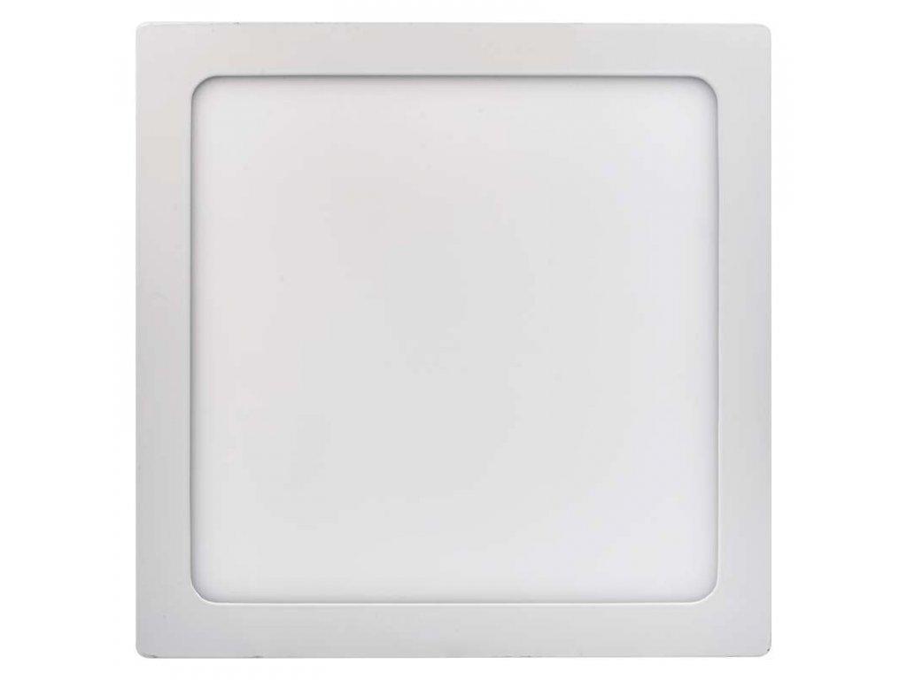 LED panel 24 W, krytí IP20 - pro vnitřní prostředí, rozměry300 × 300 × 40 mm, náhrada za žárovku 125 W, svítivost 2 000 lm, 4 000 K, barva světla neutrální bílá, čtvercové svítidlo přisazené, materiál hliník/plast, bez PIR senzoru