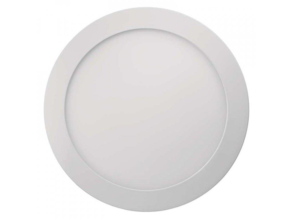 LED panel 18 W, krytí IP20 - pro vnitřní prostředí, rozměry:průměr 224 × 40 mm, náhrada za žárovku 100 W, svítivost 1 500 lm, 4 000 K, barva světla neutrální bílá, kruhové svítidlo přisazené, materiál hliník/plast, bez PIR senzoru
