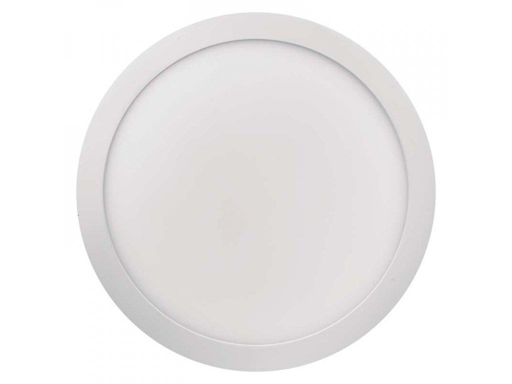 LED panel 24 W, krytí IP20 - pro vnitřní prostředí, rozměry:průměr300 × 40 mm, náhrada za žárovku 125 W, svítivost 2 000 lm, 4 000 K, barva světla neutrální bílá, kruhové svítidlo přisazené, materiál hliník/plast, bez PIR senzoru