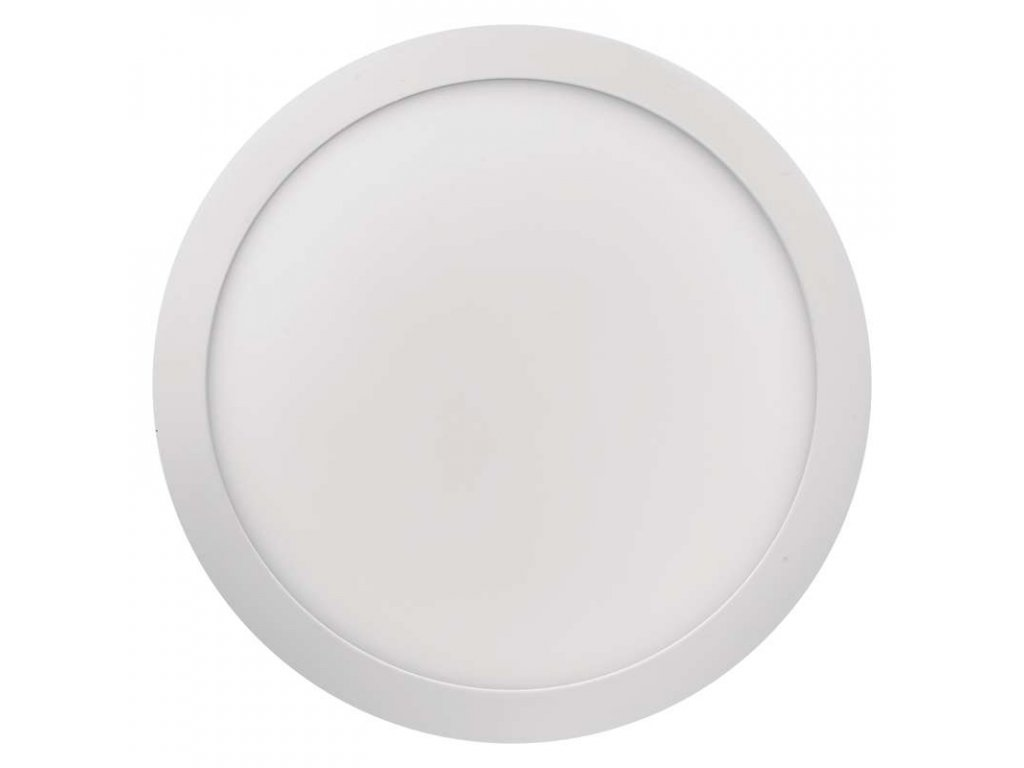 LED panel 24 W, krytí IP20 - pro vnitřní prostředí, rozměry:průměr 300 × 40 mm, náhrada za žárovku 125 W, svítivost 2 000 lm, 3 000 K, barva světla teplá bílá, kruhové svítidlo přisazené, materiál hliník/plast, bez PIR senzoru