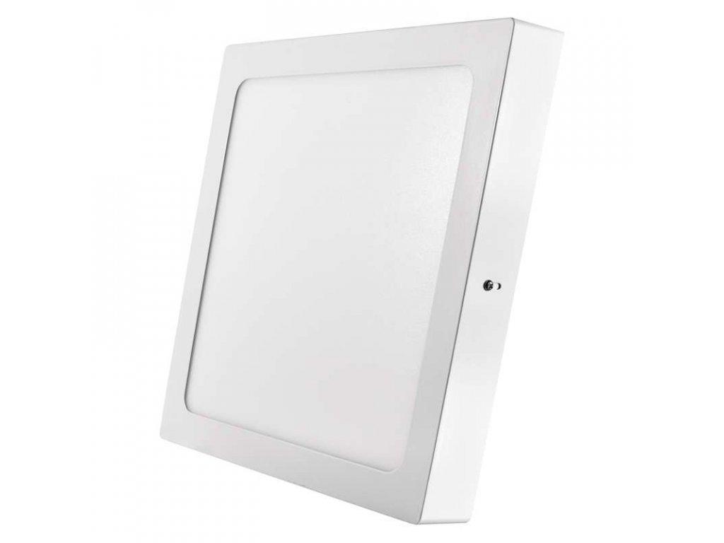 Bílý LED panel Emos PH 24W čtverec přisazený teplá bílá ZM6151