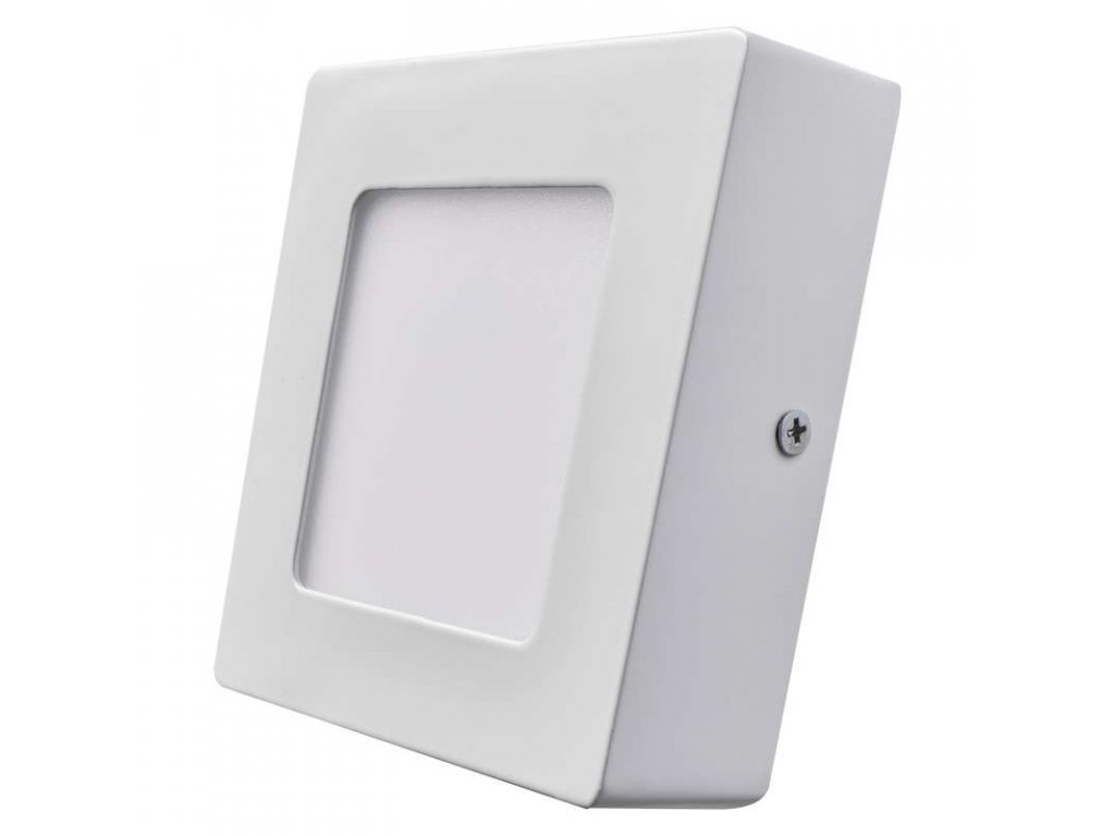 Bílý LED panel Emos PH 6W čtverec přisazený neutrální bílá ZM6122