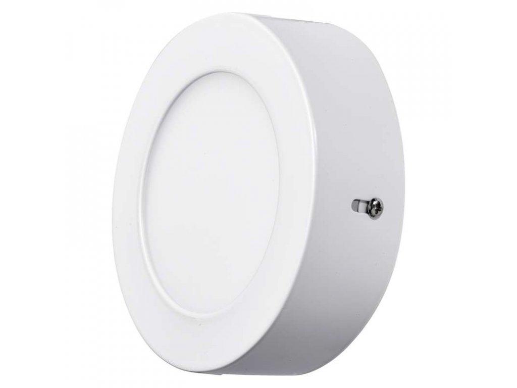 LED panel 6 W, krytí IP20 - pro vnitřní prostředí, rozměry:průměr 120 × 40 mm, náhrada za žárovku 40 W, svítivost 450 lm, 4 000 K, barva světla neutrální bílá, kruhové svítidlo přisazené, materiál hliník/plast, bez PIR senzoru