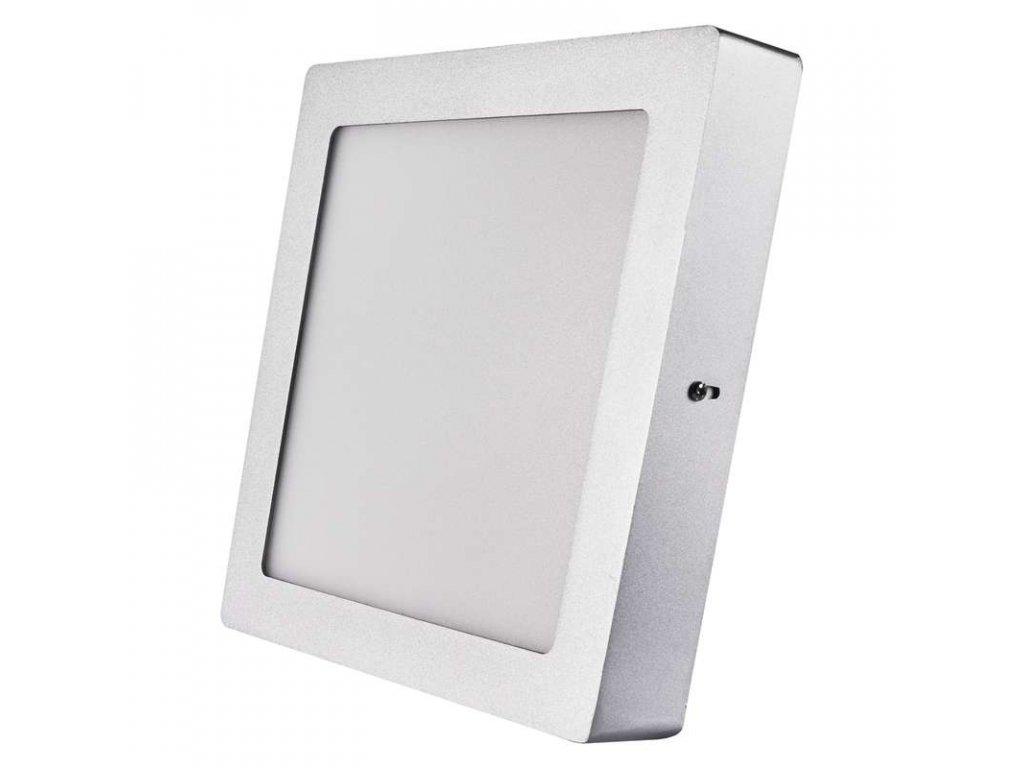 Stříbrný LED panel Emos PH 18W čtverec přisazený neutrální bílá ZM6242. Skladem na Toplux.cz, ihned k odeslání