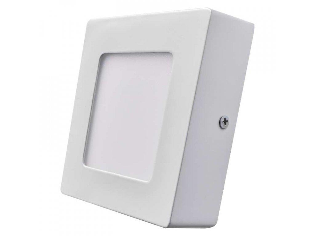 Bílý LED panel Emos PH 6W čtverec přisazený teplá bílá ZM6121
