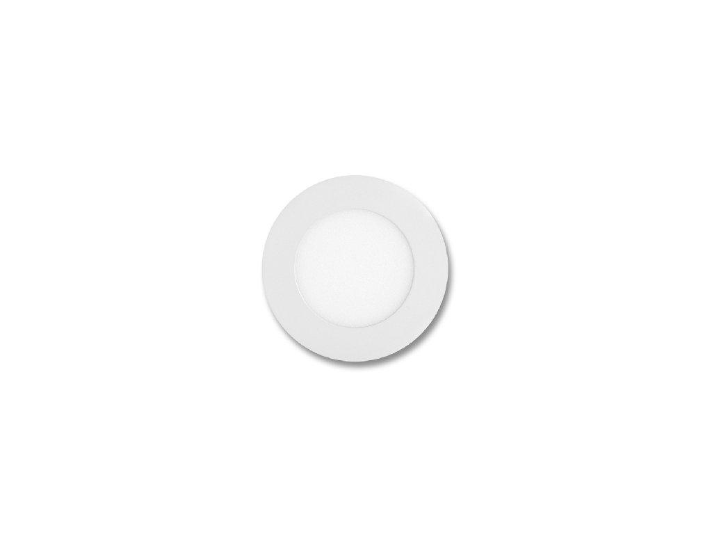 Bílý LED panel Ecolite LADA 6W kruh vestavný teplá bílá LED-WSL-6W/2700