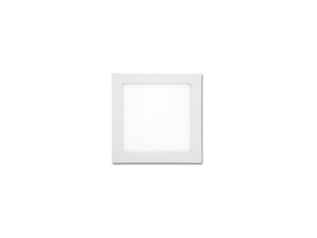 LED panel 12 W, krytí IP20 - pro vnitřní prostředí, rozměry17 x 17 cm, montážní otvor 155 x 155 mm, svítivost 860 lm, 2 700 K, barva světla teplá bílá, čtvercové svítidlo vestavné, materiál hliník/plast, barva rámu BÍLÁ standard, včetně pružin a trafa