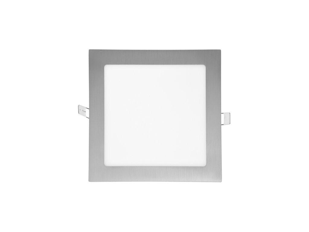 LED panel 12 W, krytí IP20 - pro vnitřní prostředí, rozměry 170 x 170 mm, montážní otvor 155 x 155 mm, svítivost 860 lm, 2 700 K, barva světla teplá bílá, čtvercové svítidlo vestavné, materiál hliník/plast, barva rámu CHROM lesklý, včetně pružin a trafa