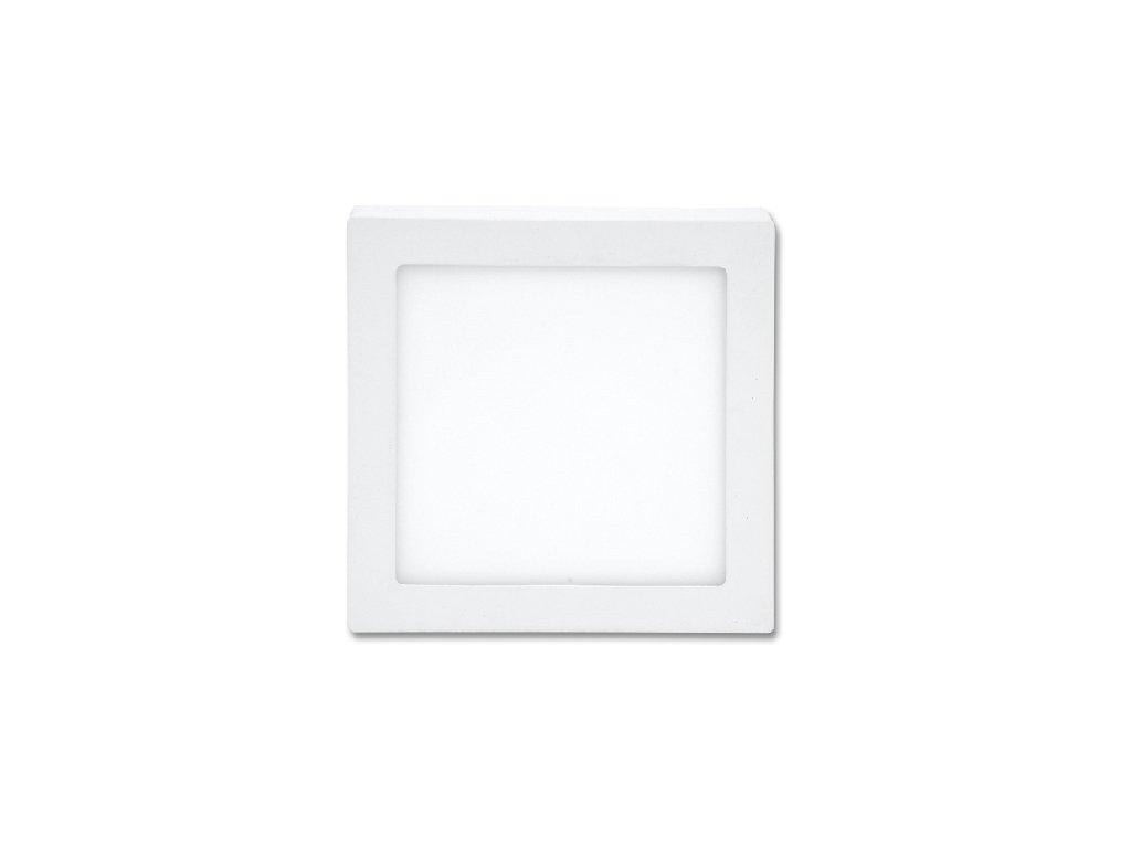 LED panel 25 W, krytí IP20 - pro vnitřní prostředí, rozměry 30 x 30 x 3 cm, svítivost 2 240 lm, 2 700 K, barva světla teplá bílá, čtvercové svítidlo přisazené, materiál hliník/plast, barva rámu BÍLÁ standard, včetně pružin a trafa