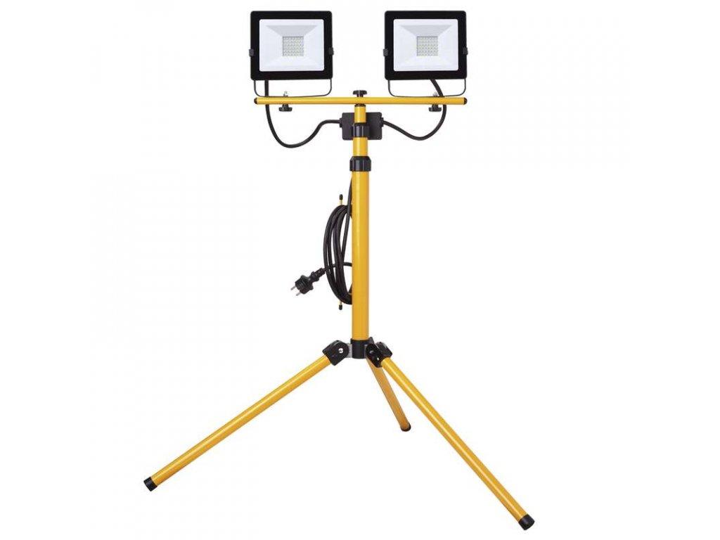 LED reflektor EMOS HOBBY SLIM 2x30W + trojnožka, neutrální bílá ZS2231.2