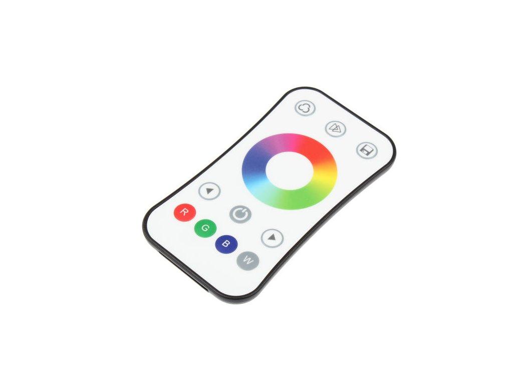 LED dálkový ovladač jednokanálový, RGB radiofrekvenční ovladač dimLED, pro RGB a RGBW pásky, nový design a funkce, rozměry 107 x 58,5 x 9 mm, dosah ovladače až 30 m