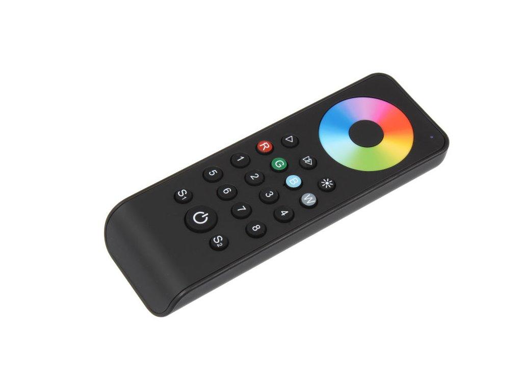 LED dálkový ovladač osmikanálový 8KRXL, RGBW radiofrekvenční ovladač dimLED, pro RGB a RGBW pásky, nový design a funkce, rozměry 141 x 50 x 17,5 mm, dosah ovladače až 30 m