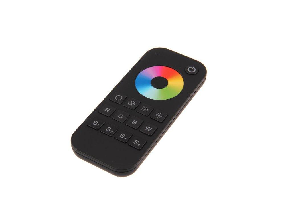 LED dálkový ovladač jednokanálový RGBW 1KRM, RGBW radiofrekvenční ovladač dimLED, pro RGB a RGBW pásky, nový design a funkce, rozměry 122 x 53 x 17,5 mm, dosah ovladače až 30 m