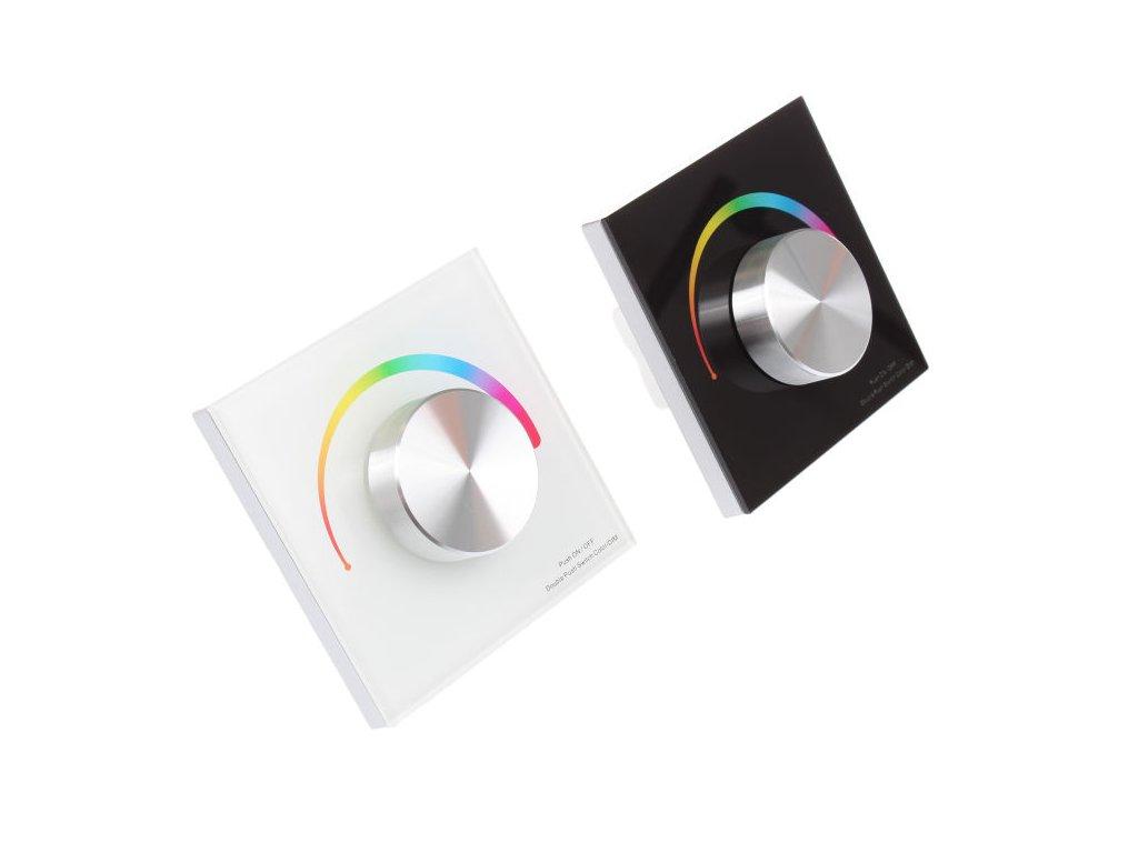 dimLED OV DUPLEX RGB 3K nástěný ovladač stmívač pro LED osvětlení bílý/černý. TopLux Praha skladem