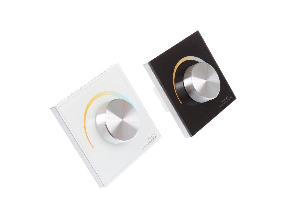 Radiofrekvenční přijímač a ovladač pro stmívání LED svítidel dimLED stmívač OV DUPLEX CCT 2K 069118, 069114. Maximální zatížení 4x3A. Cena 849 Kč. Bi-Color