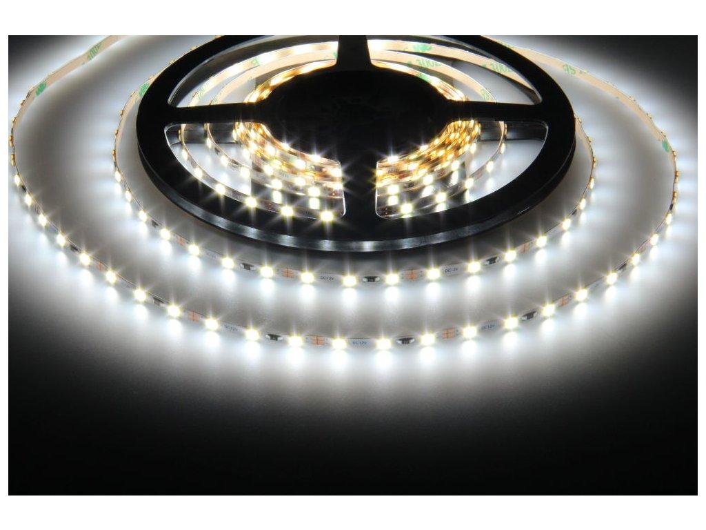 Ultra tenký LED pásek 12MINI 7,5W/m 78LED/m CW 6000k až 6500K studená bílá barva světla, úzký 3,5mm