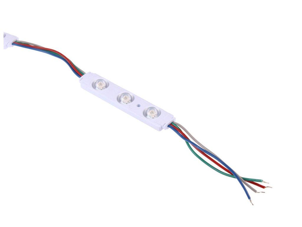 LED modul RGB 12V 0,65W 3čip barevný pro světelné reklamy 079051
