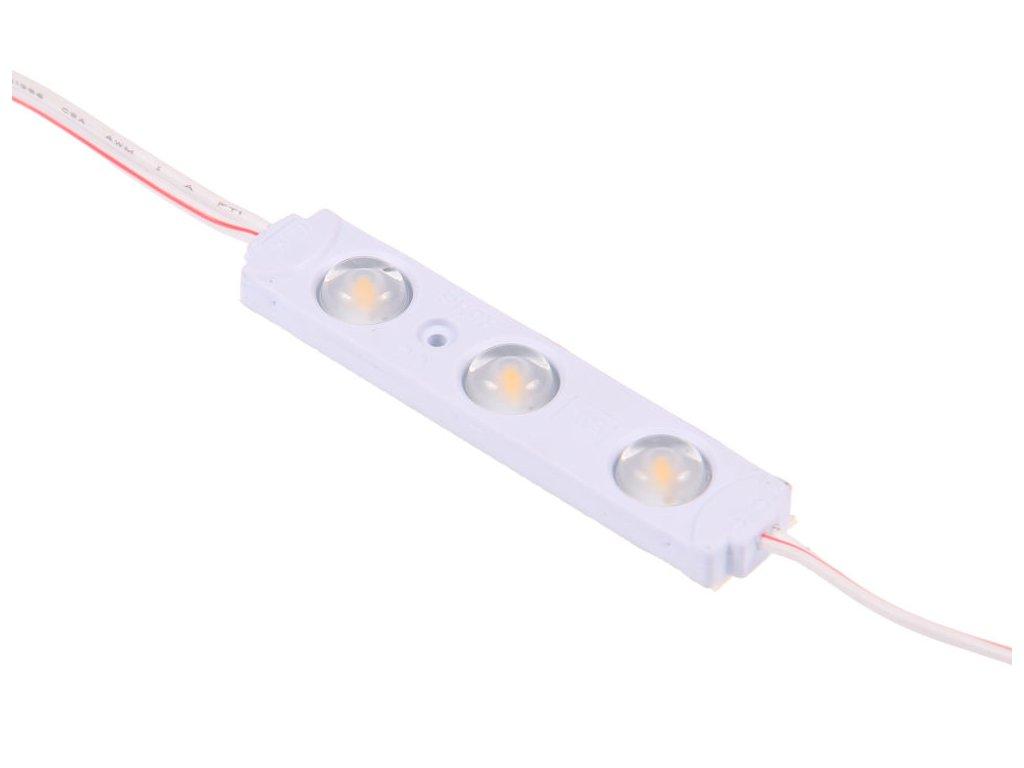 LED modul 12V 0,72W 3čip 3000K teplá bílá pro světelné reklamy 079012