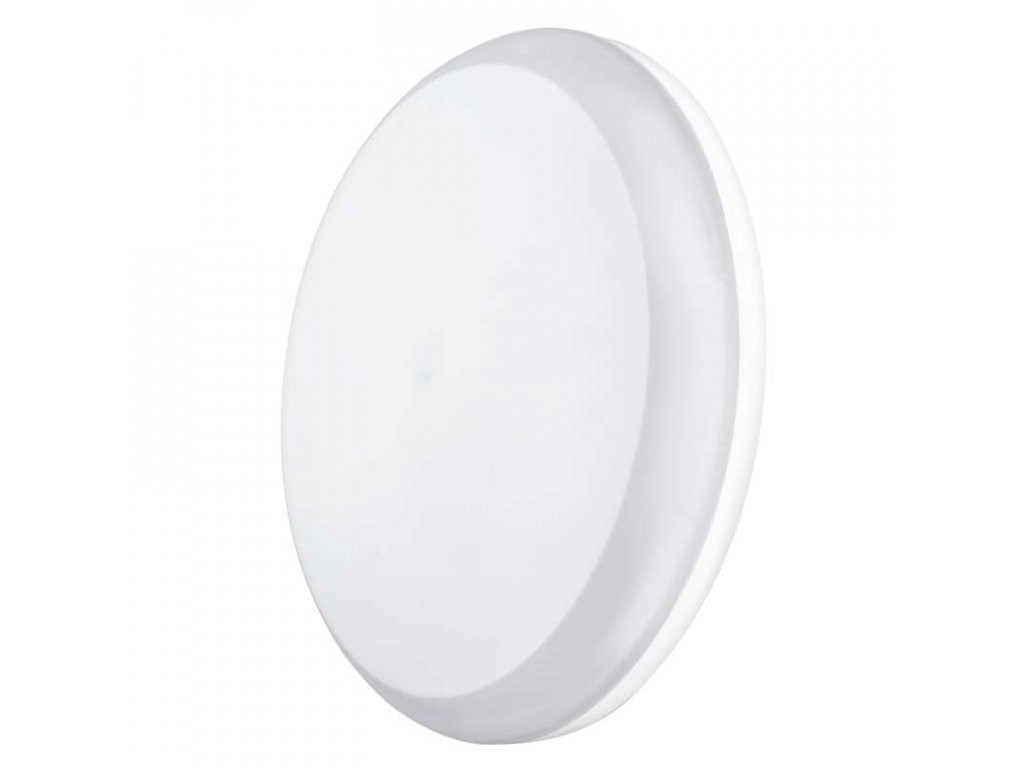 LED svítidlo 24 W, krytí IP54 - vhodné do interiéru i exteriéru, rozměry:∅ 280 x 48 mm, náhrada za žárovku 130 W, svítivost 2 050 lm, barva světla neutrální bílá, 4 000 K, kruhové svítidlo přisazené, materiál: plast (PC)