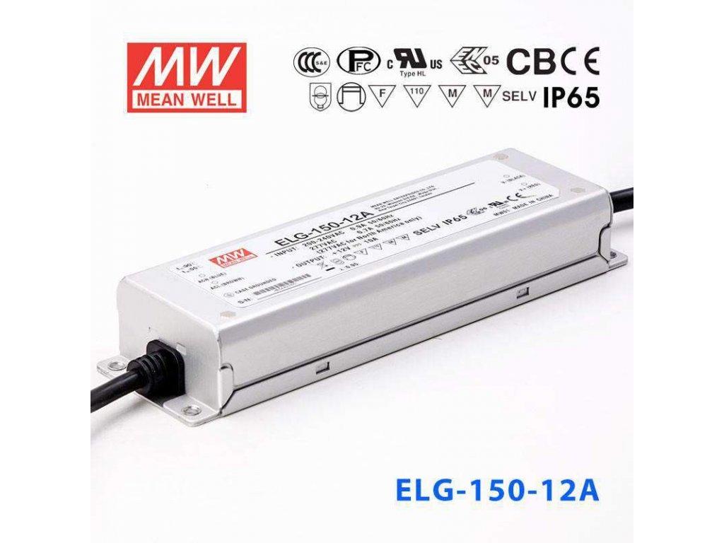 Mean Well ELG 150 12A LED zdroj 120W trafo pro LED pásky a moduly