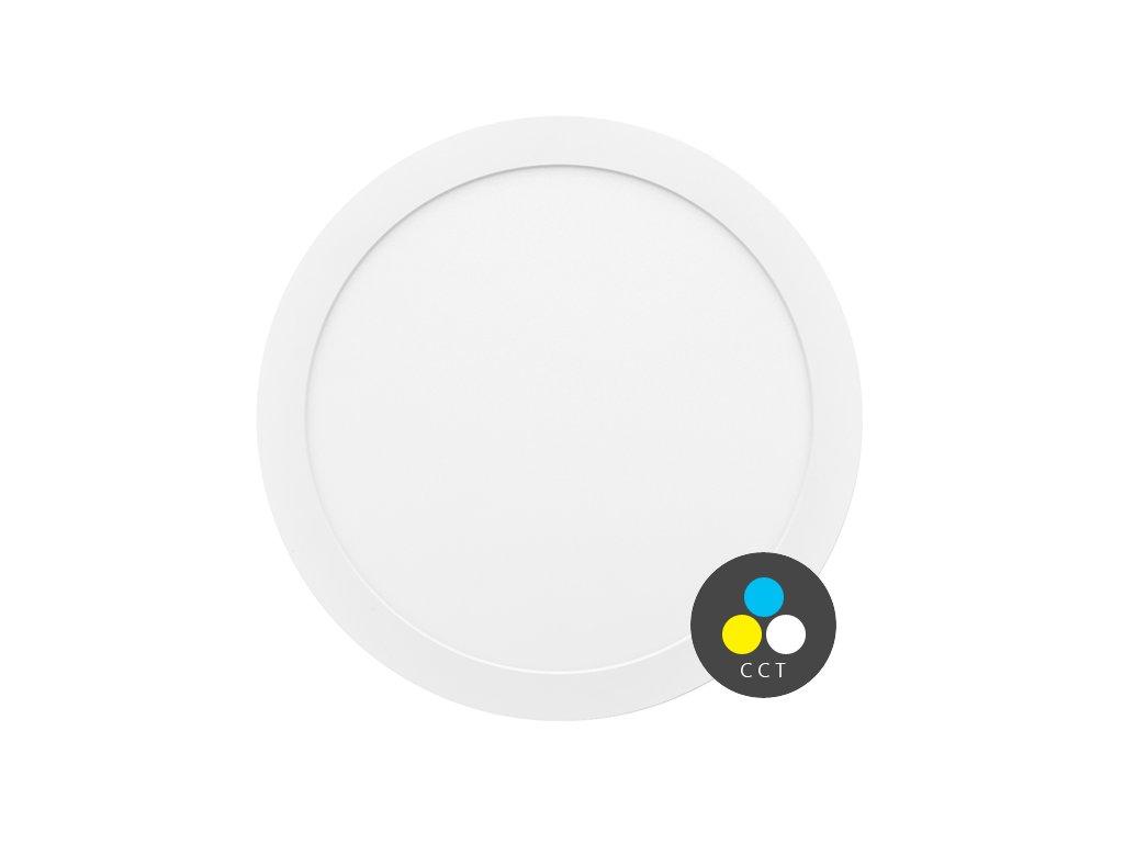 LED přisazené/vestavné svítidlo Ecolite VALI 18W s CCT - nastavení barvy světla LED-IN-18W. TopLux Praha skladem