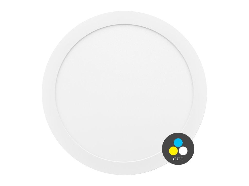 LED přisazené/vestavné svítidlo Ecolite VALI 30W s CCT - nastavení barvy světla LED-IN-30W. TopLux Praha skladem